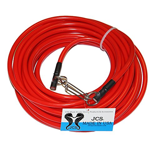 JCS Spearfishing Tow Line, Bright Orange, 50 Feet For Sale