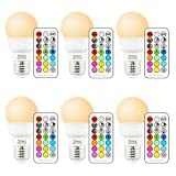 Yangcsl RGB LED Color Changing Light Bulb with Remote Control