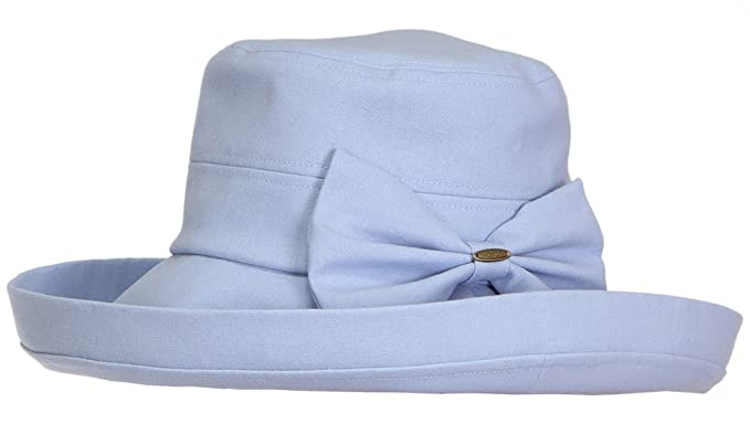447eed22955 Funky Junque H-6002-28 Packable Linen Blend Bow Hat - Baby Blue at ...