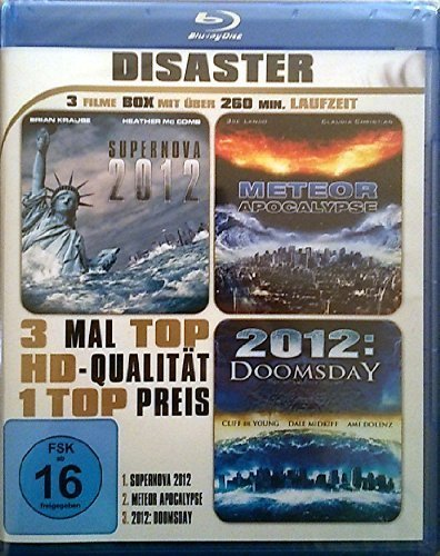 Disaster - 3 Filme Box - Supernova 2012 - Meteor Apocalypse - 2012: Doomsday