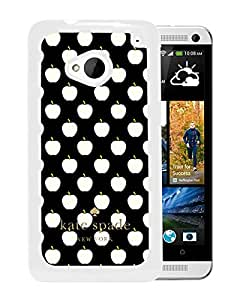 Beautiful DIY Designed Kate Spade Cover Case For HTC ONE M7 White Phone Case 136