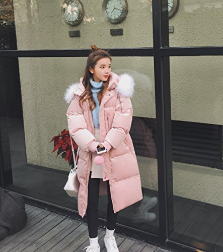 Wool Long Cotton Xuanku The Winter Cotton Bread Feather Hair Loose Coat Coat Thick Clothing Section Of Clothing Pink Women For t1TBqwT