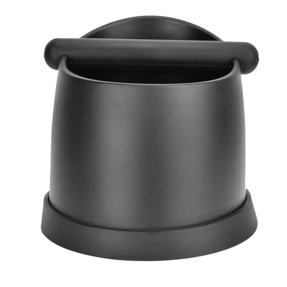 Coffee Knock Out Box Large Plastic Coffee Residue Bucket Espresso Coffee Grounds Anti-slip Espresso Dump Bin (Black) by Fdit