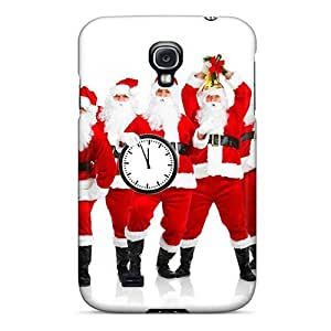 New Style MeSusges Hard Case Cover For Galaxy S4- New Year Santa Claus