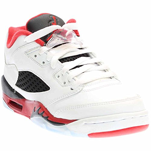 huge discount 22599 2c6a5 Galleon - Nike Air Jordan 5 Retro Low (GS) White Black Red 314338-101  (SIZE  4.5Y)