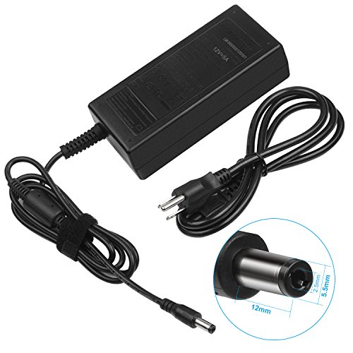 Price comparison product image 60W 12V 5A Adapter Charger for Benq LCD Monitors FP2081 FP450 FP547 FP553,  Acer LCD Monitors AC501 AC711 AC915 AF705 AL506,  Compatible P / N: CH-1205 1050F EA1050A-120 EA1050F