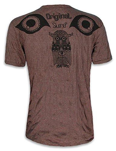 Arte Xl Uomo shirt Psichedelica Che Yoga T Da Tutto Marrone Taglia M L Gufo L'occhio Indiano Vede Sure Santo q6ztnxHZnw