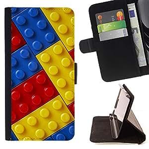 Momo Phone Case / Flip Funda de Cuero Case Cover - Red Kit Juguete Azul Amarillo Construcción Ni?os - Samsung Galaxy J3 GSM-J300