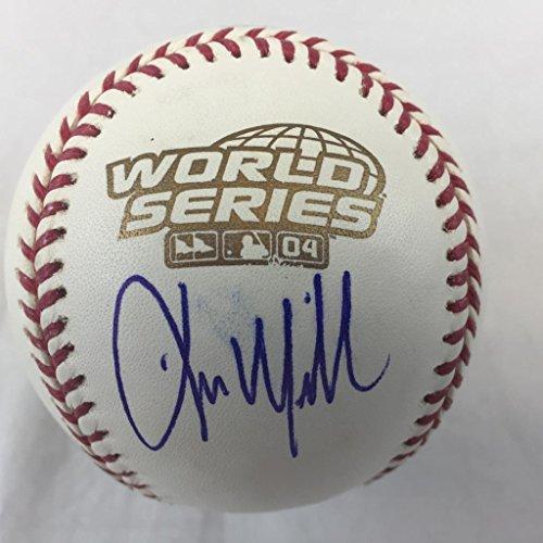 (Kevin Millar Signed 2004 World Series Baseball JSA coa Boston Red sox autograph)