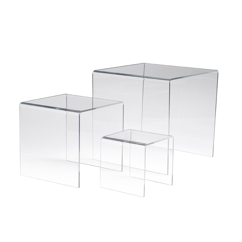 Econoco FF/DR4510 Acrylic Display Risers (4'', 6'' and 8'') (Pack of 6)