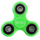 Fidget Spinner, POAO Portable Tri-Spinner Fidget Work Ultra Fast Bearings Finger Toy Stress Reducer, Nice Gift and Great for ADD, ADHD, Anxiety, and Autism Adult Children [Green]