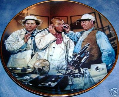 The Three Stooges Plate - Franklin Mint Collector's Plates 1994 - Doctor Howard, Doctor Fine, Doctor Howard ()