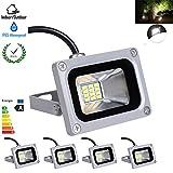 5X 10W 12V IP65 LED Cool White Flood Light Outdoor Garden Wall Lamp Spotlights,6000-6500K