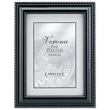 Amazon Lawrence Frames Walnut Wood 8x10 Picture Frame Silver
