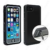 Abbicen iPhone 7 Waterproof Case with Kickstand IP68 Waterproof iPhone 8 Case Full Body Protective Cover with Built-in Screen Protector Underwater/Shockproof/Dirtproof/Snowproof