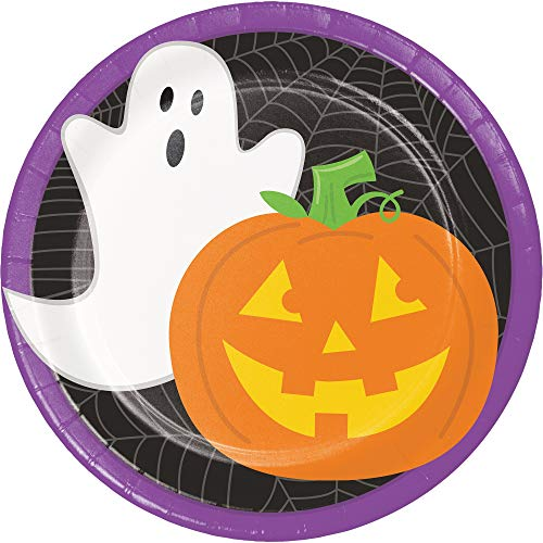 Pack of 96 Jack-O'-Lantern Ghost Halloween Disposable Party Luncheon Plate 6.75
