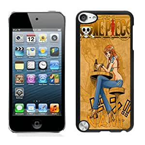 Fashionable DIY Custom Designed nami one piece Cover Case For iPod Touch 5th Black Phone Case CR-434
