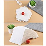 100pcs Solid 2-Ply Dinner Napkin Paper Serviettes