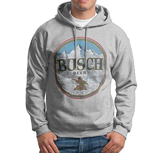 (Dora Faded Busch Men's Fashion Sweatshirt Size S Ash)