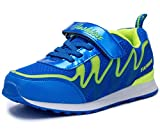 DADAWEN Boys & Girls Lightweight Sneakers Breathable Athletic Running Shoes(Toddler/Little Kid/Big Kid) Blue US Size 5 M Big Kid