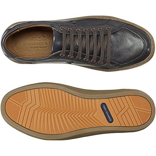 Anatomic & Co Bilac Full-Grain Chumbo Lace Up Shoes CHUMBO