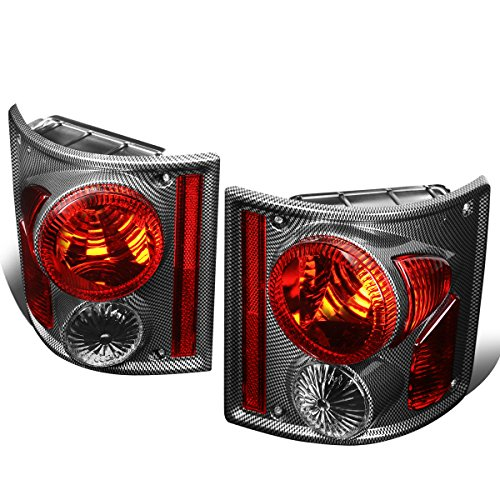 GMC C/K R/V Suburban Pickup Carbon Fiber Housing Altezza Style Tail Light Brake Lamps (Chevrolet C10 Suburban Bumper)