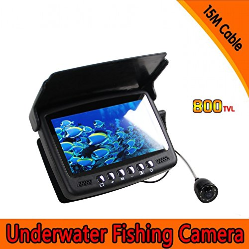 Emperor of Gadgets® Portable Underwater Fish Camera | Fish Finder with 4.3 inch TFT Monitor and 15m Cable by Emperor of Gadgets
