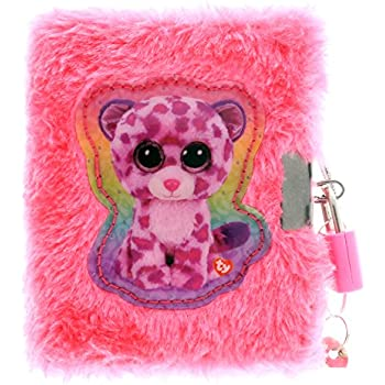 e4ba1d78c52 KidPlay Products TY Beanie Boos Plush Diary with Lock and Fuzzy Pen Girls  Notebook Journal Gift