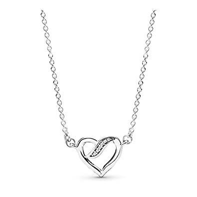 119d6d49a68f9 PANDORA Dreams Of Love Necklace, Sterling Silver, Clear Cubic Zirconia,  17.8 IN