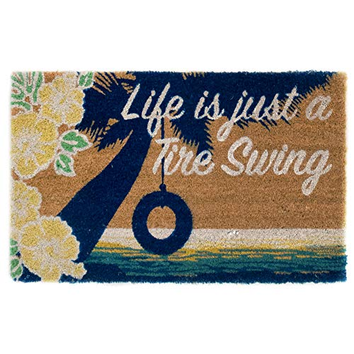 Liora Manne CBN12678012 Cabana Casual Tire Swing Outdoor Rug, 18