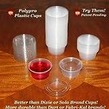 Case of 500 - 2 ounce Jello Shot Cups & Lids - Disposable Plastic Glasses with Lids 2 oz