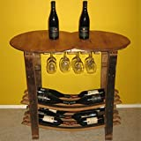 KegWorks Handmade Wooden Barrel Wine Tasting Table