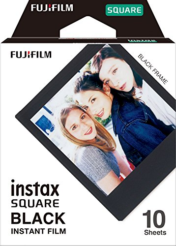 Fujifilm Instax Square Black Film – 10 Exposures