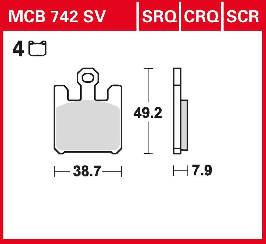 Bremsbelag TRW Sinter Street Hochleistungsbelag ZX-10R Ninja ZXT00C 04-05 vorne