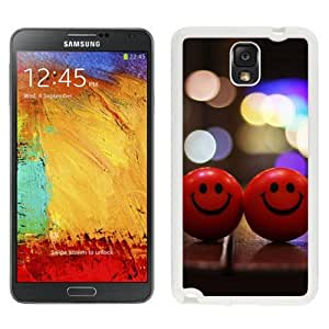 New Beautiful Custom Designed Cover Case For Samsung Galaxy Note 3 N900A N900V N900P N900T With Red Happy Smiley (2) Phone Case
