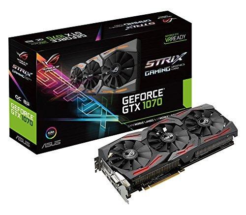 47 opinioni per Asus GeForce ROG STRIX-GTX1070-O8G-Gaming Scheda Grafica da 8 GB, GDDR5