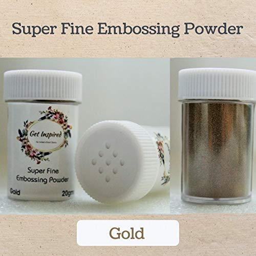 Jumbo Jar 100gms Gold Super Fine Embossing Powder by Get Inspired