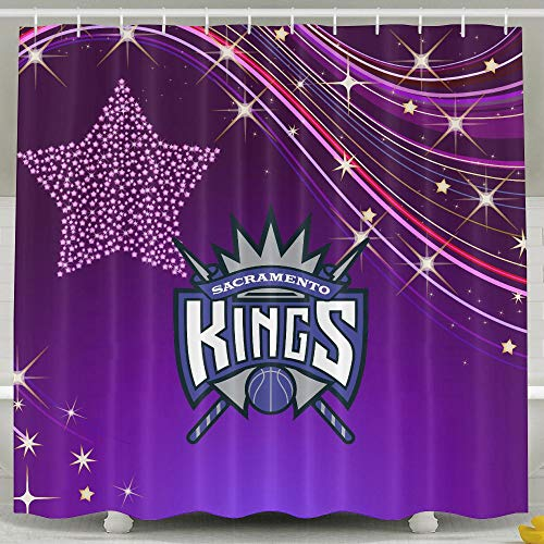 ShenigonNBA Kings Badge Waterproof Fabric Shower Curtain 60