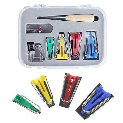 Kit de máquina de coser de cinta al bies, 6 mm, 12 mm, 18 mm, 25 ...