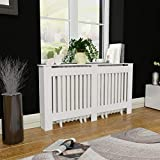 Festnight MDF Radiator Cover Heating Cabinet with a Matte Finish Living Room Furniture Decor White (60