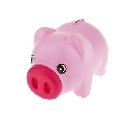 Gazechimp Caja de Monedas Ahorro de Dinero Banco Alcancía Animales Plástico Niños - Rosa: Juguetes y juegos