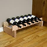 Creekside 6 Bottle Short Scalloped Wine Rack (Redwood) by Creekside - Easily stack multiple units - hardware and assembly free. Hand-sanded to perfection!, Redwood