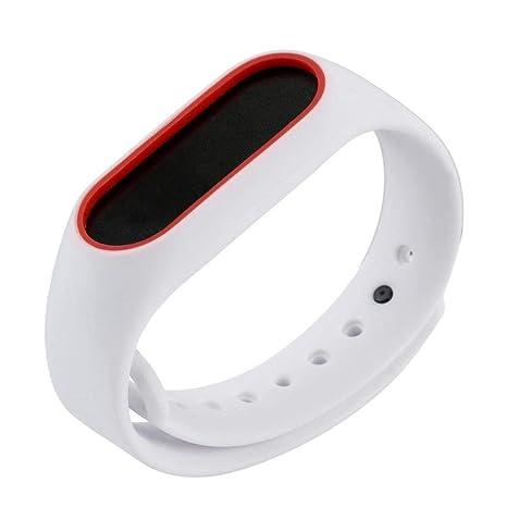 Correas xiaomi Band 2, ☀️Modaworld Pulsera para Xiaomi 2 Correa de Reloj Elegante Reemplazo de Bandas Correa de Repuesto para MiBand2 (Blanco)