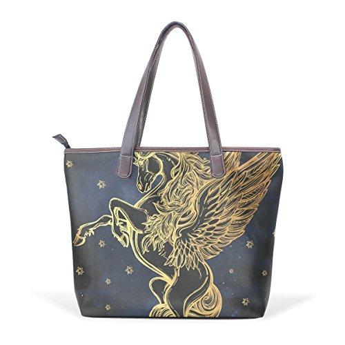 Handle Ladies Shoulder Large Patern Handbag Top Tote Unicorn Bags Bennigiry Women wAIqaPq6