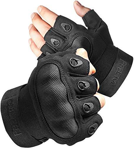 FREETOO Motorradhandschuhe Herren Sport Handschuhe Vollfinger Taktische Handschuhe mit gepolstertem Rückenseite geeignet…