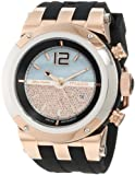 Mulco Unisex MW5-1621-023 Bluemarine Rose-Tone Watch with Black Silicone Strap