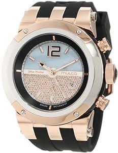 Mulco Unisex MW5-1621-023 Bluemarine Rose-Tone Watch with Black Silicone Strap