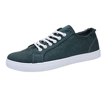2c0ca4df633be Amazon.com: Men Lace-up Sneakers Shoes Teenager Shoes Student Canvas ...