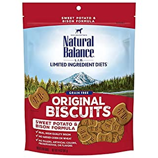 Natural Balance L.I.D. Limited Ingredient Diets Dog Treats, Sweet Potato & Bison Formula, 14 Ounce Bag, Grain Free