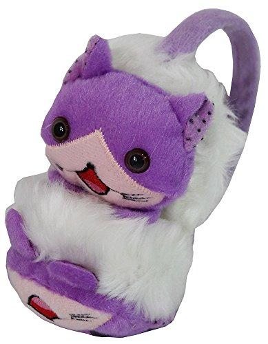 Kids Winter Faux Fur Earmuffs Lovely Animal Design Warmer Purple